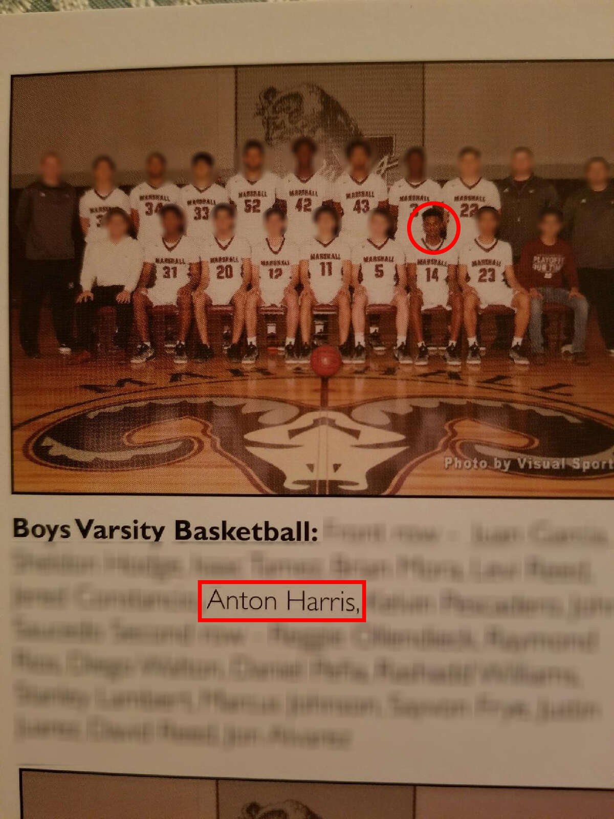 Anton Jamail Harris, who was arrested in connection to sexual assaults in the Medical Center area on June 8, 2017, was on the varsity basketball team at Marshall High School in San Antonio.