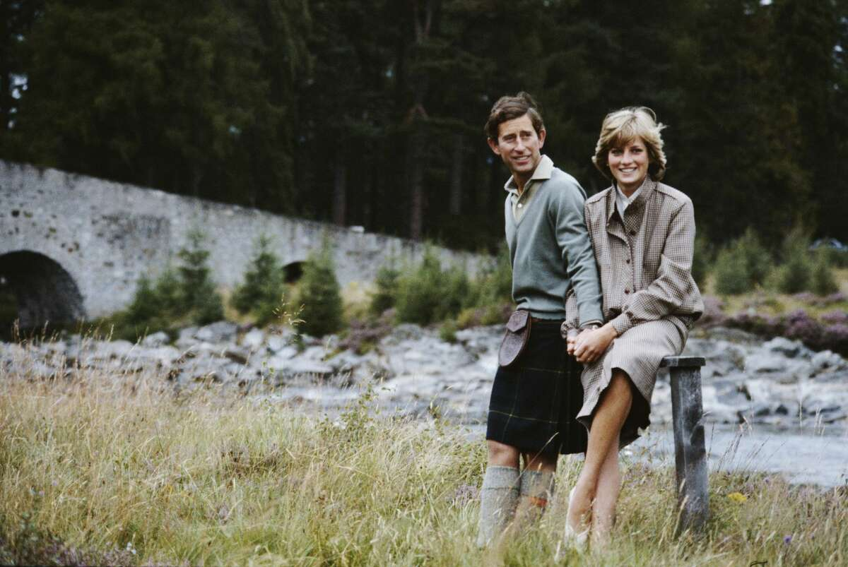 Prince Charles and Diana, Princess of Wales, pose together during their honeymoon in Balmoral, Scotland, Aug. 19, 1981.