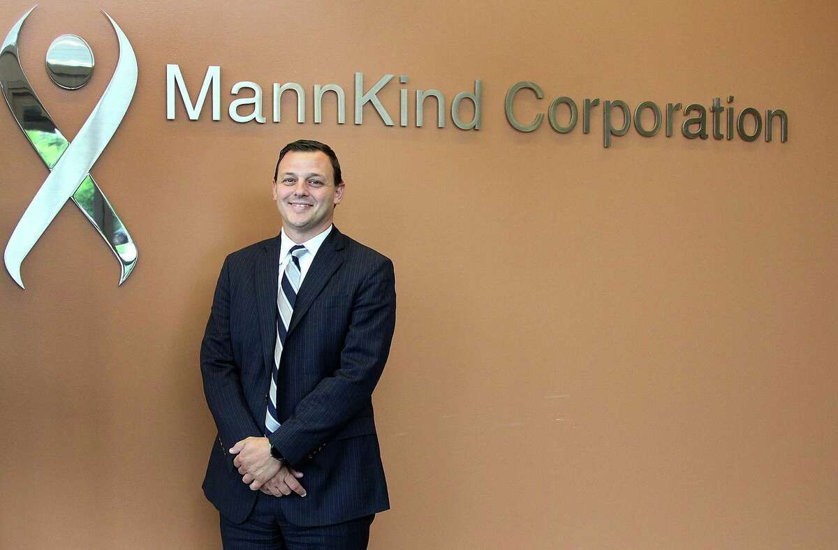 Michael Castagna, new CEO of MannKind Corporation, stands in the company's Danbury, Conn., manufacturing facility on Tuesday, June 6, 2017.