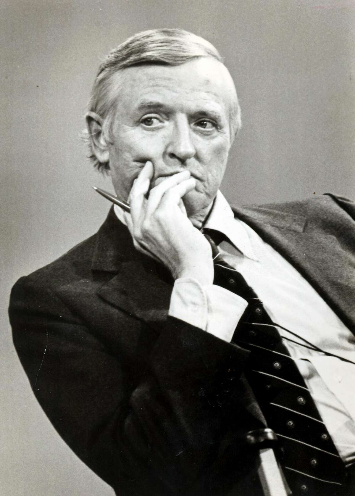 """PBS promotional shot of William F. Buckley Jr. for his TV show """"Firing Line"""""""