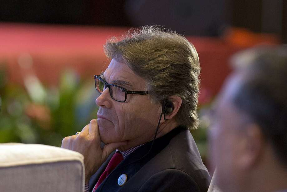 Energy Secretary Rick Perry attends the opening ceremony Wednesday of a clean energy conference held in Beijing. Photo: Ng Han Guan, Associated Press