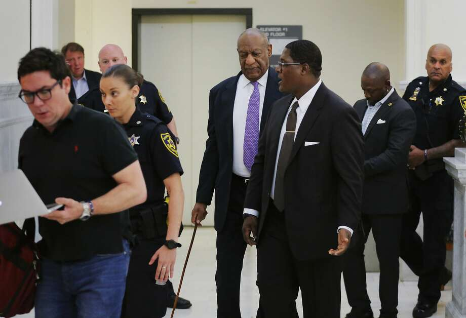 Bill Cosby returns to the courtroom after a break in proceedings during his trial at the Montgomery County Courthouse in Norristown, Pa. He faces 10 years in prison if convicted. Photo: Lucas Jackson, Associated Press