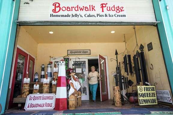 Sandra Williams, owner of Boardwalk Fudge, walks outside her shop on Tuesday, May 30, 2017, in Kemah. ( Brett Coomer / Houston Chronicle )