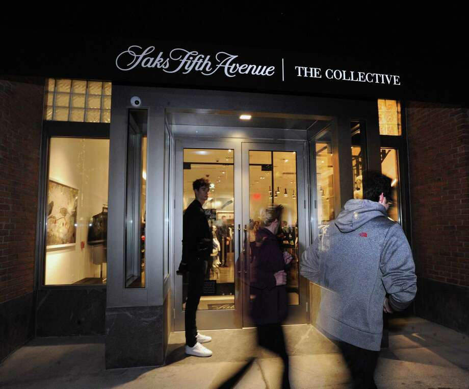 The celebration and media tour of the new Saks Fifth Avenue specialty store, The Collective, at 200 Greenwich Ave., Feb. 1. Photo: Bob Luckey Jr. / Hearst Connecticut Media / Greenwich Time