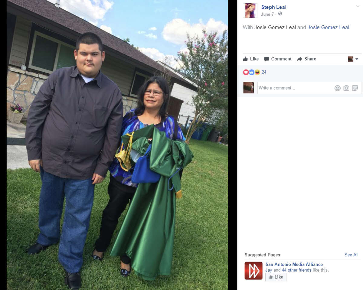 """Matthew Rocha """"couldn't even sleep he was so thrilled"""" to get his diploma with the rest of the McCollum High School seniors on June 7, according to a Facebook post penned by his cousin, Steph Leal."""