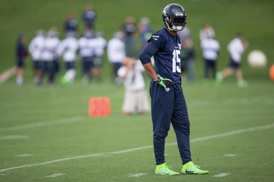 Seahawks wide receiver Jermaine Kearse watches drill during OTAs at Virginia Mason Athletic Center on Friday, June 9, 2017. Photo: GRANT HINDSLEY, SEATTLEPI.COM / SEATTLEPI.COM