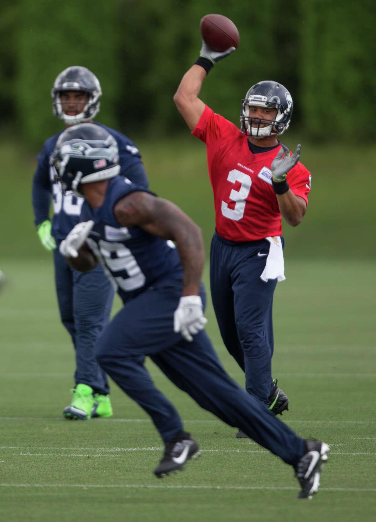 Seahawks quarterback Russell Wilson.