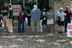 Voters wait in line at the Brook Hollow Branch Public Library in 2017. Scenes like these aren't common enough. Texas, and San Antonio, could use a boost in voter engagement and participation. Are you registered to vote?