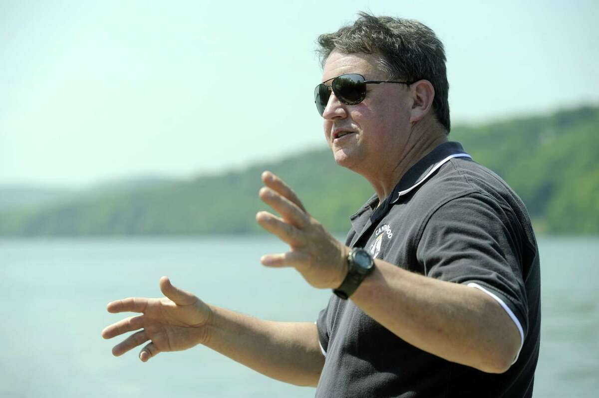 Larry Marsicano, executive director of the Candlewood Lake Authority, talks about Lake issues in this file photo.