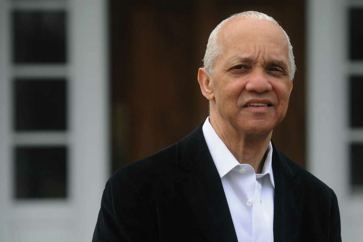 Philanthropist Noel Hord poses for a photo outside his Danbury, Conn. home on April 20, 2013. Hord began the The Hord Foundation, Inc., with his late, first wife Cora in 1993. The foundation provides qualified African-American youth and adults with scholarships for post-secondary education.