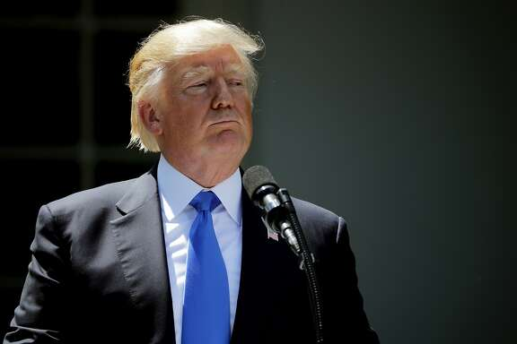 WASHINGTON, DC - JUNE 09:  U.S. President Donald Trump holds a joint news conference with Romanian President Klaus Iohannis  in the Rose Garden at the White House June 9, 2017 in Washington, DC. According to news reports, Iohannis said the meetings agenda was supposed to include talks on economic investment and security issues related to Russia.  (Photo by Chip Somodevilla/Getty Images)