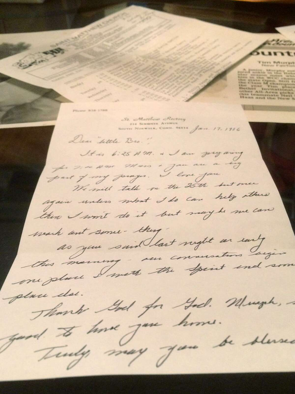 The Rev. Martin Federici sent dozens of letters, some shown here, expressing his love for the young man he was allegedly abusing in the 1980s.