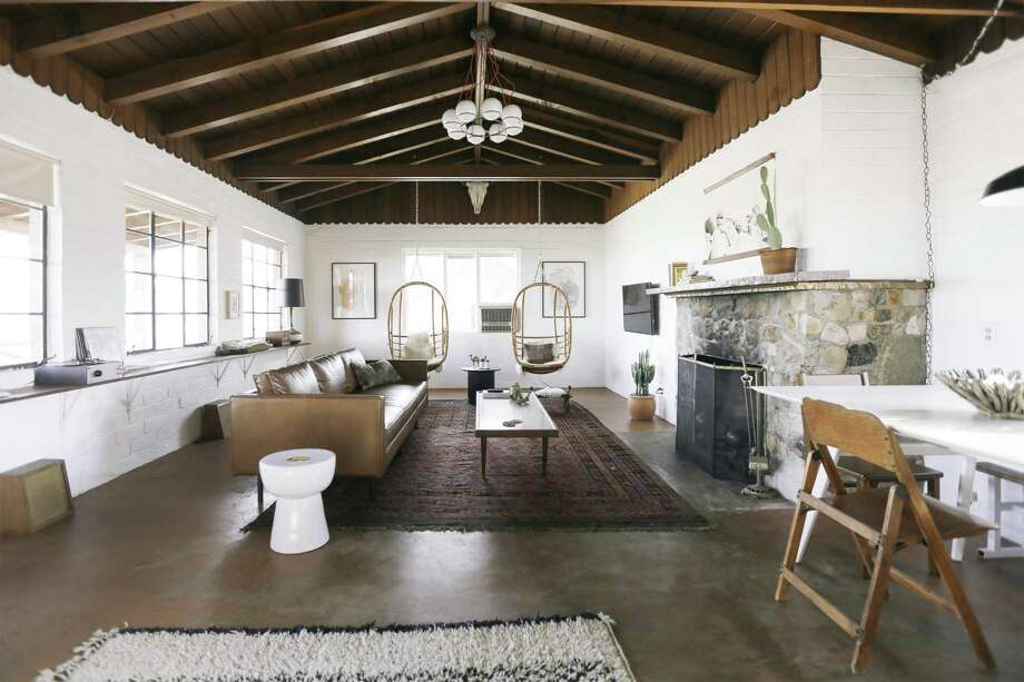 Hacienda: The living room in the Combs' home in Joshua Tree.