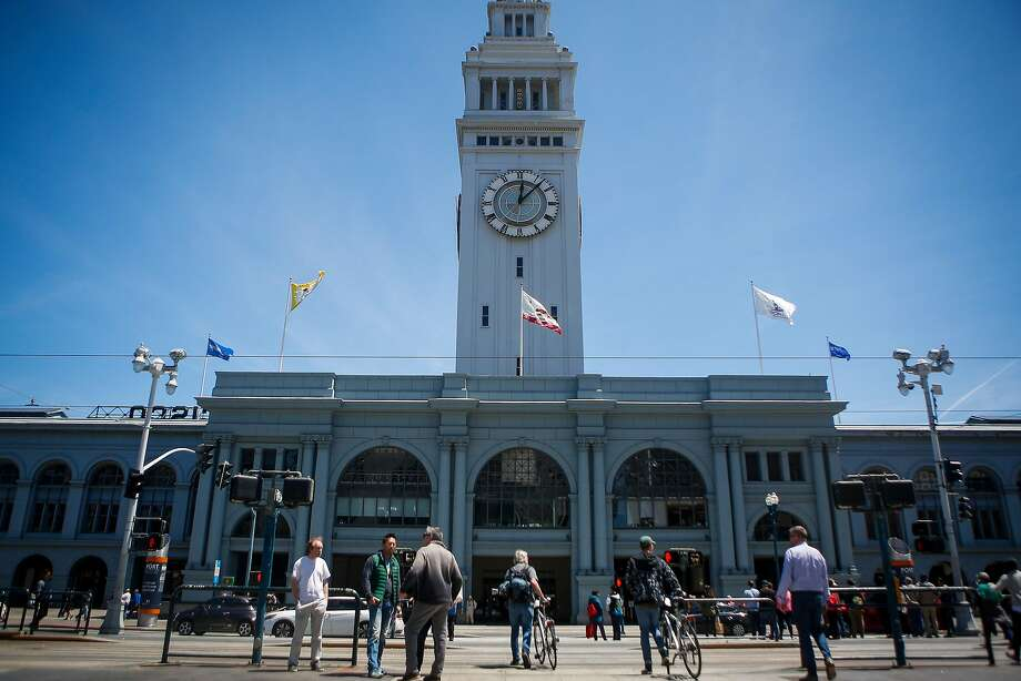 People enter  the renovated marketplace in the Ferry Building in San Francisco on June 9, 2017. Photo: Nicole Boliaux, The Chronicle