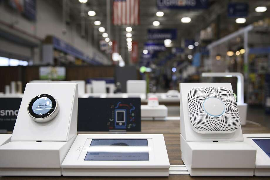Smart home devices are displayed for sale inside a Lowe's store in Burbank in May. Experts worry that connected devices could be taken over by hackers for a variety of nefarious purposes. Photo: Patrick T. Fallon, Bloomberg
