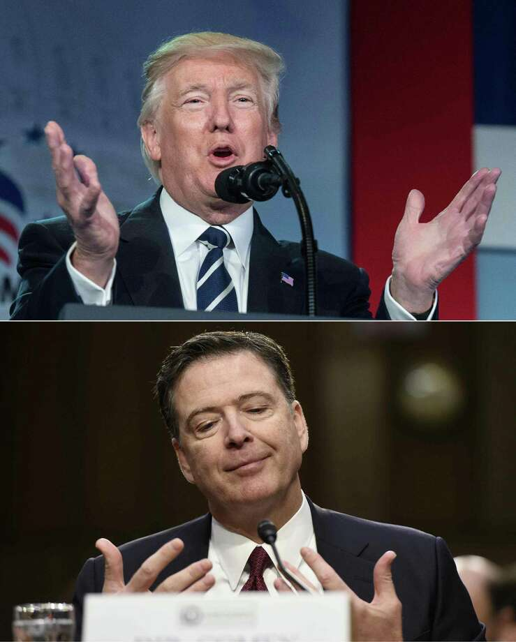 This combination of pictures shows President Donald Trump and former FBI Director James Comey. (AFP/Getty Images) Photo: NICHOLAS KAMM, Staff / AFP