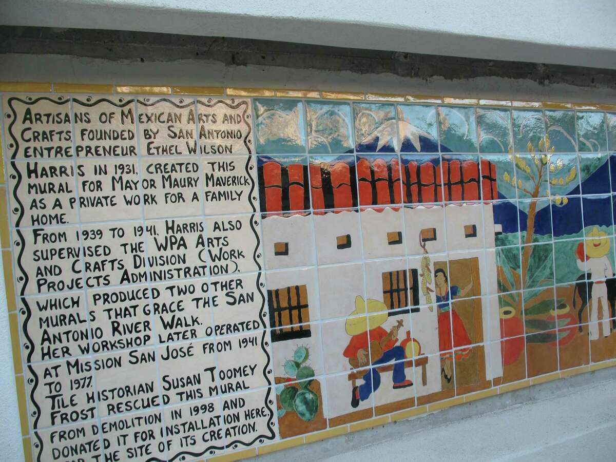 A restored Works Projects Administration-era mural by Ethel Wilson Harris was installed on a River Walk wall below the El Tropicano Hotel. The Maverick Tile Mural about village life in Mexico had been in a home for almost 60 years before art historian Susan Toomey Frost had it restored and donated it to the San Antonio River Foundation.