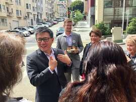 State Treasurer John Chiang in San Francisco after kicking off his campaign for governor.