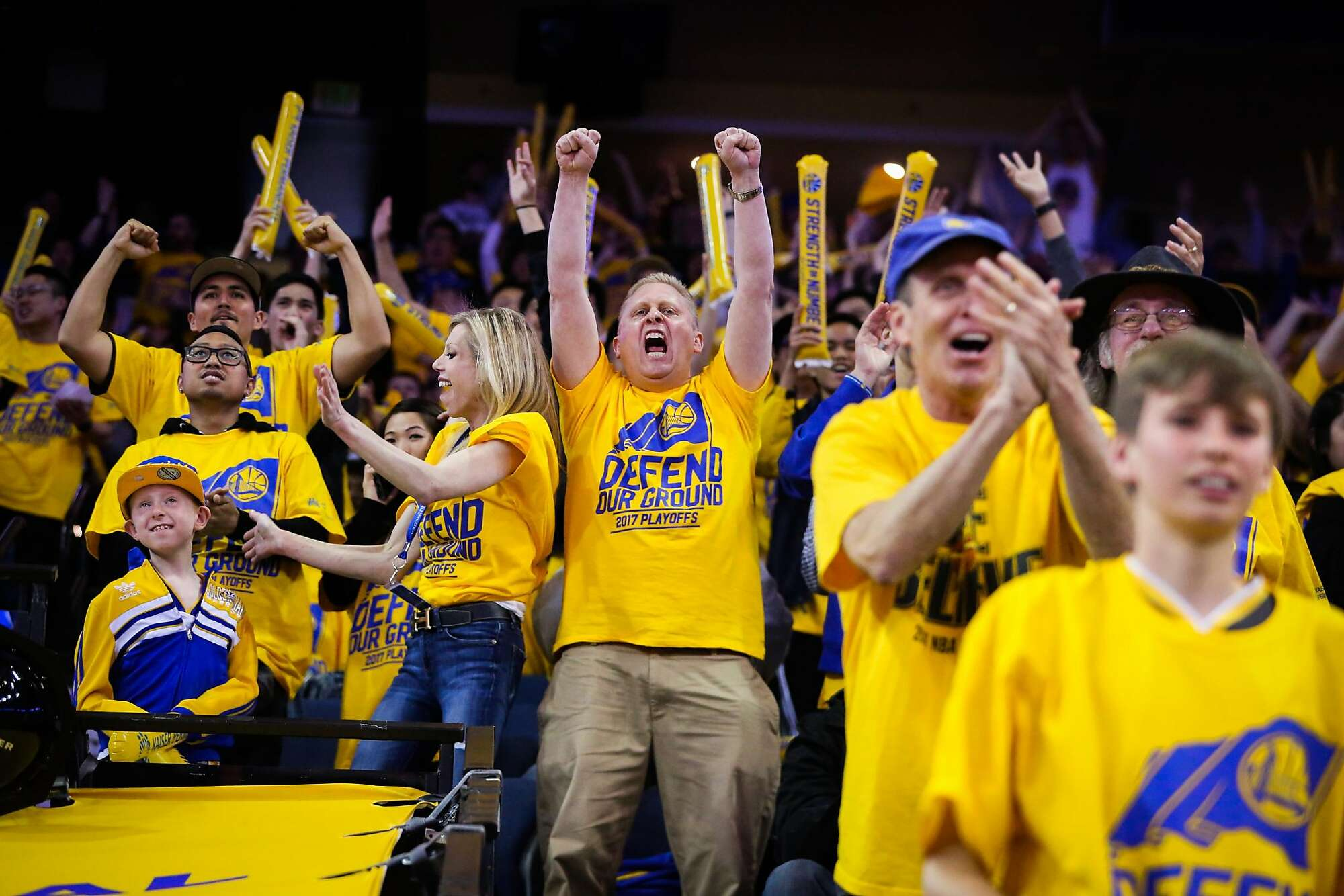 Golden State Warriors Fans Throughout The 2017
