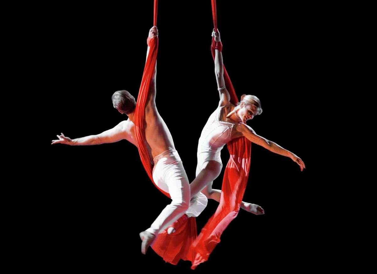 The Cirque de la Symphonie artists performed with the San Antonio Symphony on Friday night.