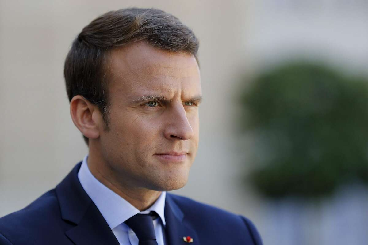 French President Emmanuel Macron is pictured during a joint press conference with the Peruvian president following talks at the Elysee Presidential Palace in Paris on June 8, 2017. France's traditional bastions of the left and right for 60 years fear they will be swept aside by President Emmanuel Macron's centrist candidates in the first round of parliamentary elections on June 11, leaving the country without an effective opposition. / AFP PHOTO / PATRICK KOVARIKPATRICK KOVARIK/AFP/Getty Images