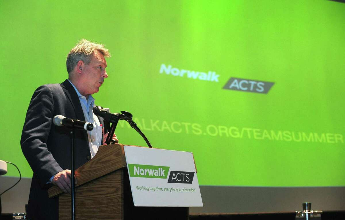 Anthony Allison, Norwalk ACTS executive director, speaks during the TEAM Summer Community Awareness Campaign Press Conference Wednesday, April 5, 2017, at Stepping Stones Museum for Children in Norwalk. Norwalk ACTS embarked on a project entitled The Prenatal to 3rd Grade Work Strategy in 2014 to work toward ensuring all children in Norwalk are ready to learn by the time they reach kindergarten.