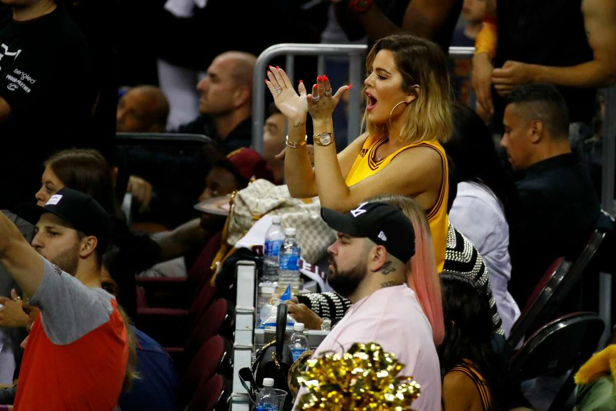TV personality Khloe Kardashian attends Game 4 of the 2017 NBA Finals between the Golden State Warriors and the Cleveland Cavaliers at Quicken Loans Arena on June 9, 2017 in Cleveland, Ohio.