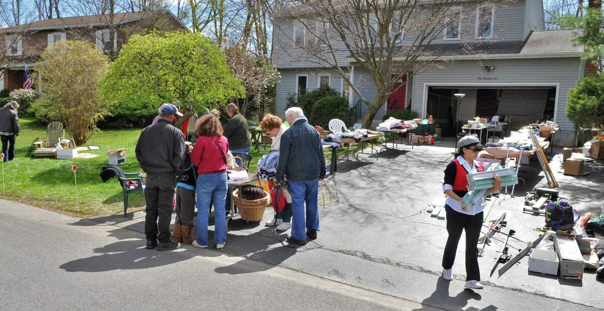A garage sale seen in Bethlehem in 2012. New York says garage sales can now be held in June 2020 after the pandemic shutdown (John Carl D'Annibale / Times Union)