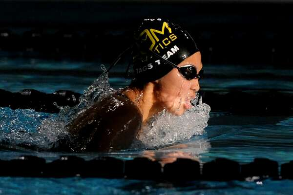 COM swimmer Meisi Holmes competes in the Frost Bank West Texas Invitational on June 9, 2017, at the FMH Foundation Natatorium. James Durbin/Reporter-Telegram