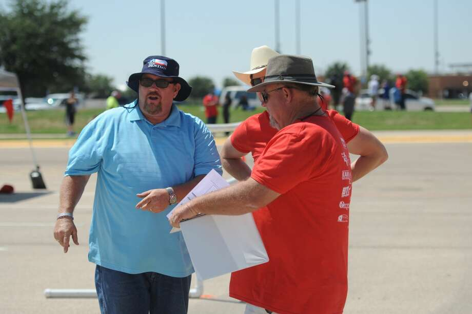 The Lone Star chapter of the Solid Waste Association of North America (SWANA) hosted the 2017 Road-E-O competition for waste disposal truck drivers on June 10, 2017, at the Scharbauer Sports Complex. Drivers from around the state competed in timed and scored challenges that replicate obstacles they experience on their routes, such as navigating narrow alleyways, and making tight turns. James Durbin/Reporter-Telegram Photo: James Durbin