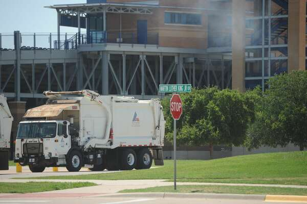 The Lone Star chapter of the Solid Waste Association of North America (SWANA) hosted the 2017 Road-E-O competition for waste disposal truck drivers on June 10, 2017, at the Scharbauer Sports Complex. Drivers from around the state competed in timed and scored challenges that replicate obstacles they experience on their routes, such as navigating narrow alleyways, and making tight turns. James Durbin/Reporter-Telegram