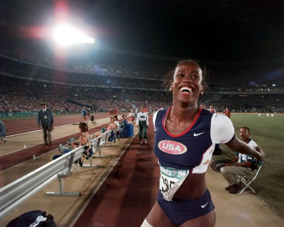 The winner of three gold, one silver and two bronze gold medals, Jackie Joyner-Kersee overcame severe asthma. Photo: ERIC DRAPER, Staff / AP