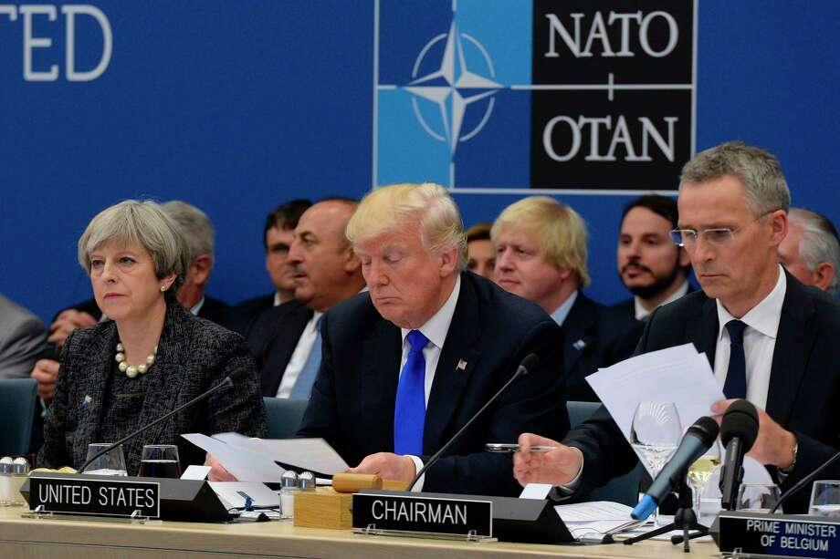 The outcry over President Donald Trump's supposed abandonment of NATO has been badly overdone. Trump explicitly said in May that the U.S. would not leave allies in the lurch. Photo: THIERRY CHARLIER, Stringer / afp or licensors