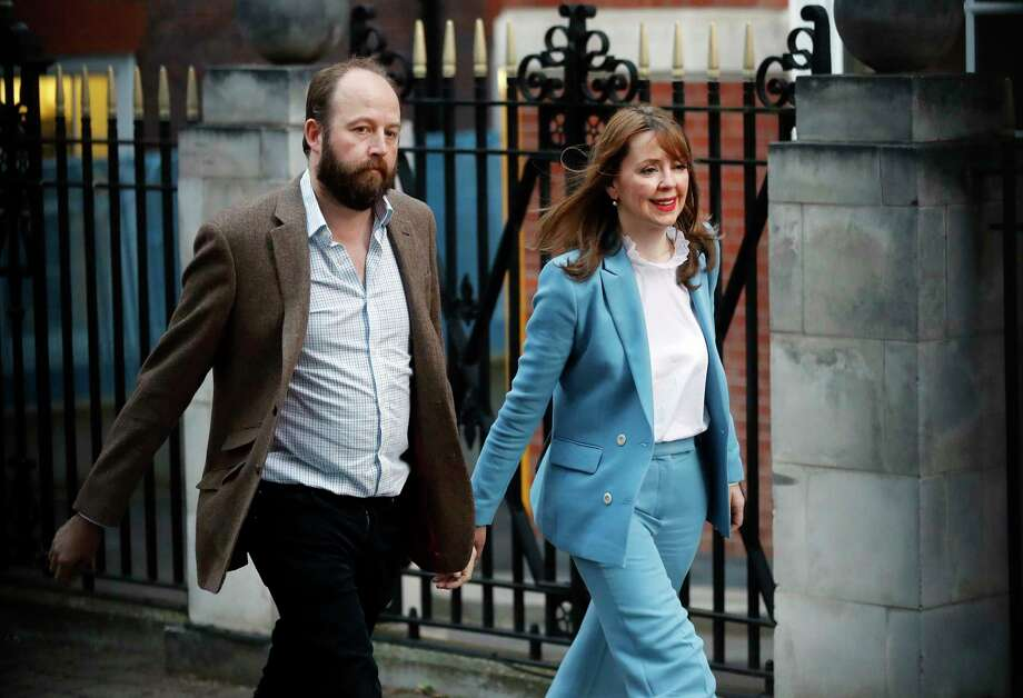 Nick Timothy and jFiona Hill resigned as top aides to Prime Minister Theresa May in the wake of the election result.  Photo: Frank Augstein, STF / Copyright 2017 The Associated Press. All rights reserved.