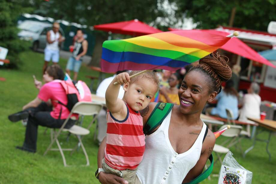 The Triangle Community Center held its annual LGBTQ Pride festival, Pride in the Park at Matthews Park in Norwalk on June 10, 2017. Special guests included Trixie Mattel from RuPaul's Drag Race, comedian Julie Goldman and musician Crystal Waters. Were you SEEN? Photo: Derek T. Sterling/Hearst CT Media