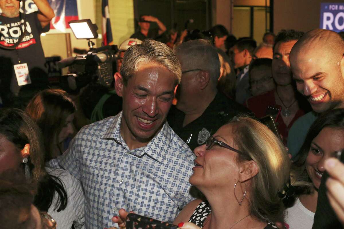 San Antonio mayoral candidate Ron Nirenberg is surrounded by supporters after declaring victory at his campaign headquarters, Saturday, June 10, 2017. Early results in the run off election against Mayor Ivy Taylor, Nuremberg held a nine-point lead throughout the evening.