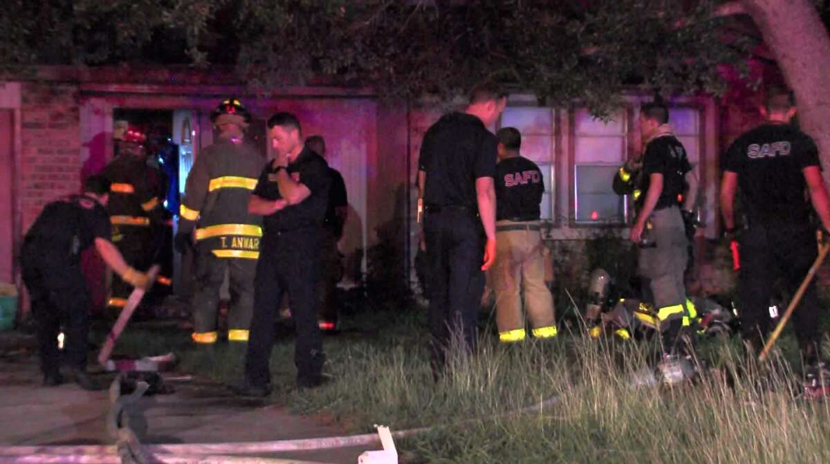 Officials estimate damages from an overnight house fire Saturday June 10, 2017, at about $20,000. No one was hurt during the blaze on he city's Northeast Side.