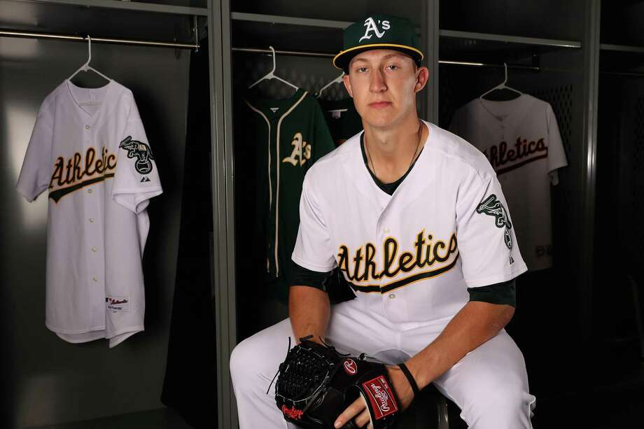 MESA, AZ - FEBRUARY 22:  Pitcher Daniel Gossett #78 of the Oakland Athletics poses for a portrait during photo day at HoHoKam Stadium on February 22, 2017 in Mesa, Arizona.  (Photo by Christian Petersen/Getty Images) Photo: Christian Petersen / Getty Images / 2017 Getty Images