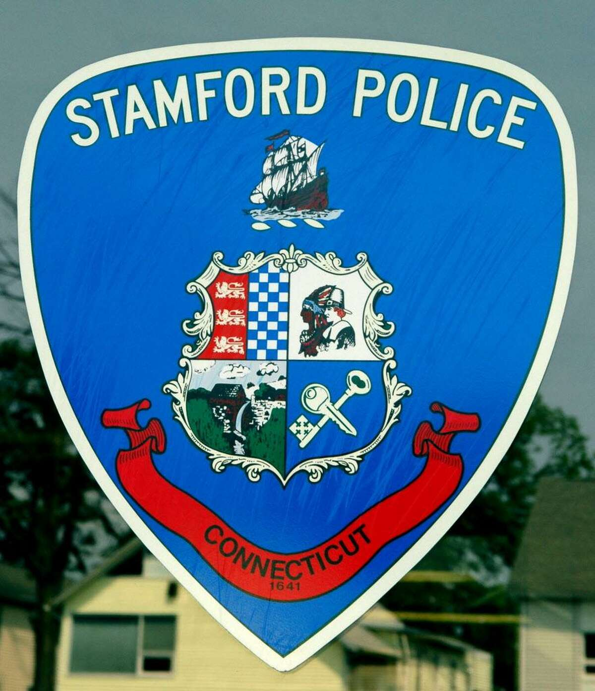 Stamford Police sheild at Headquarters at 805 Bedford Street in Stamford, Conn. on Wednesday June 8, 2011.