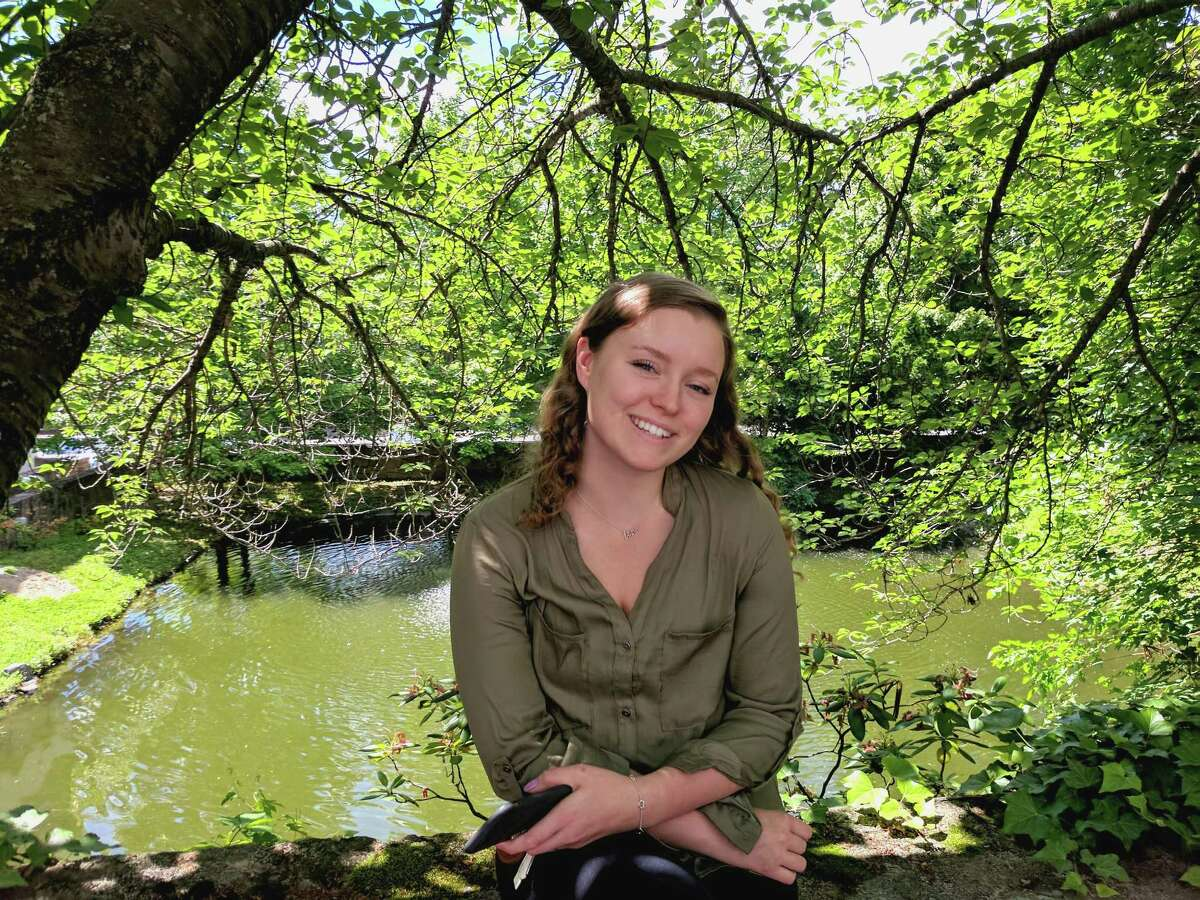 Sarah Lindh, 19, came to Greenwich, Conn. from Sweden last July and is wrapping up her year stint as an au pair.