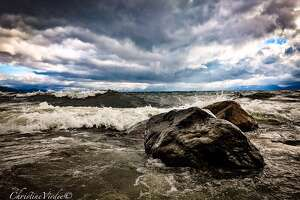 Big waves on Lake Tahoe photographed by  Christi Virdee  on June 10, 2017