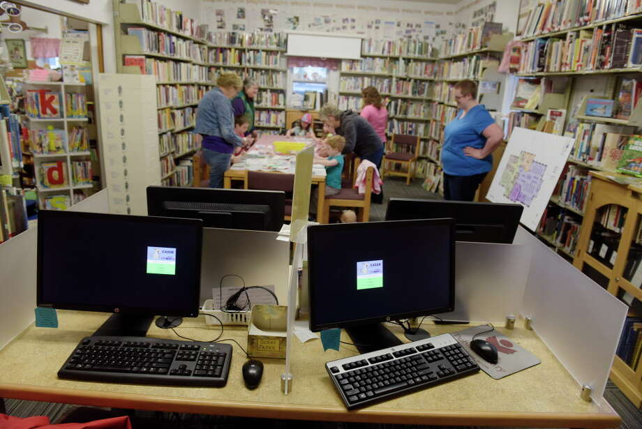 A view of the computer area at the Galway Public Library on Tuesday, June 6, 2017, in Galway, N.Y.  Town residents will soon vote on a referendum to build a new library.   (Paul Buckowski / Times Union) Photo: PAUL BUCKOWSKI, Albany Times Union / 40040695A