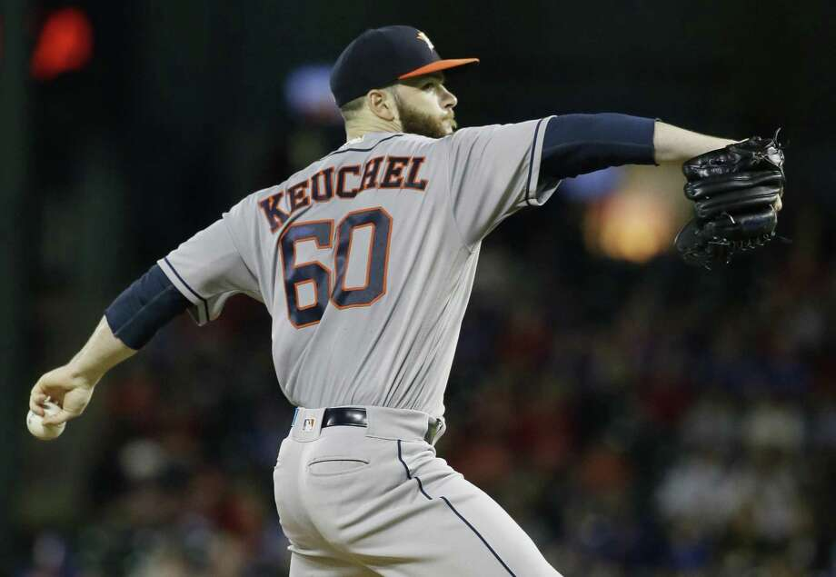 Houston's  Dallas Keuchel pitches at Texas on June 2. Photo: LM Otero /Associated Press / Copyright 2017 The Associated Press. All rights reserved.