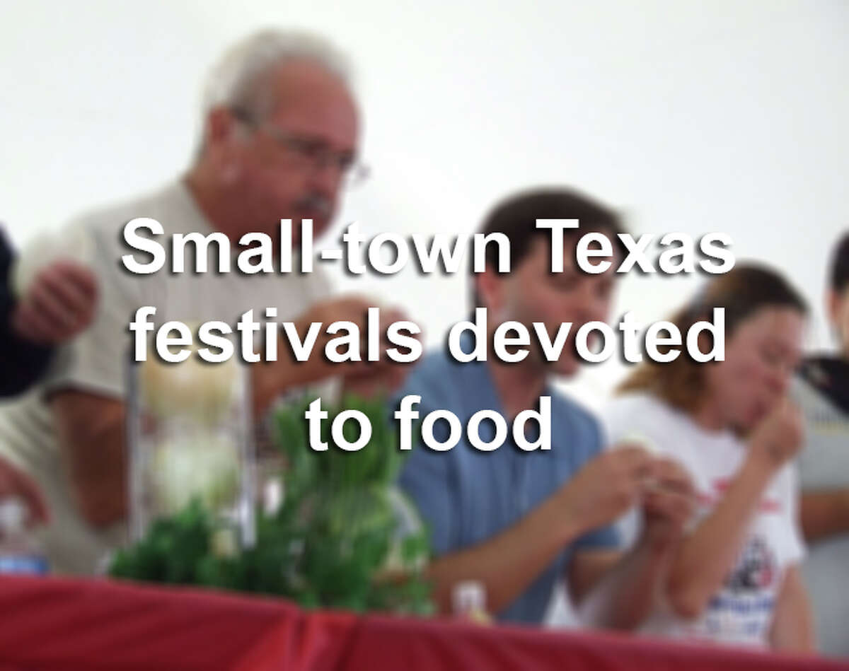 Keep clicking for a tour of quirky small-town festivals devoted to food throughout Texas.