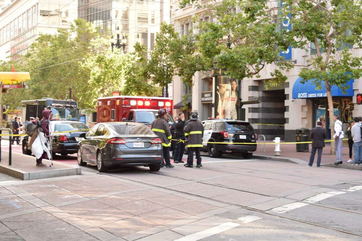 A suspicious package near the Powell Street BART station Monday morning prompted authorities to close some exits at the station and call in a bomb squad to investigate.