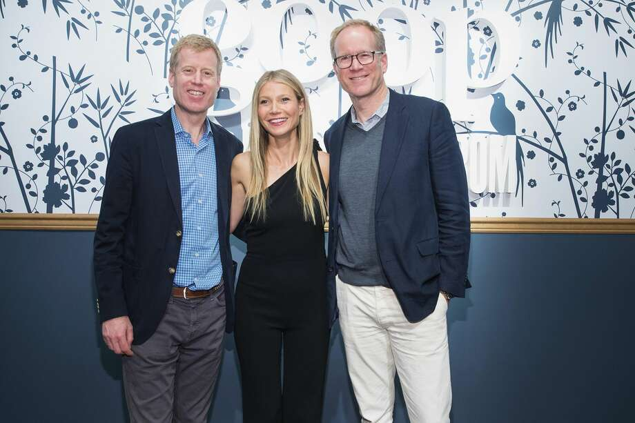 FILE-- (L-R) Erik Nordstrom, Gwyneth Paltrow and Pete Nordstrom visit goop-In@Nordstrom for Book Signing on May 19, 2017 in Seattle, Washington.A Utah man has filed a lawsuit accusing actress Gwyneth Paltrow of seriously injuring him during a crash at a Park City ski resort in 2016. Photo: Mat Hayward/Getty Images For Nordstrom