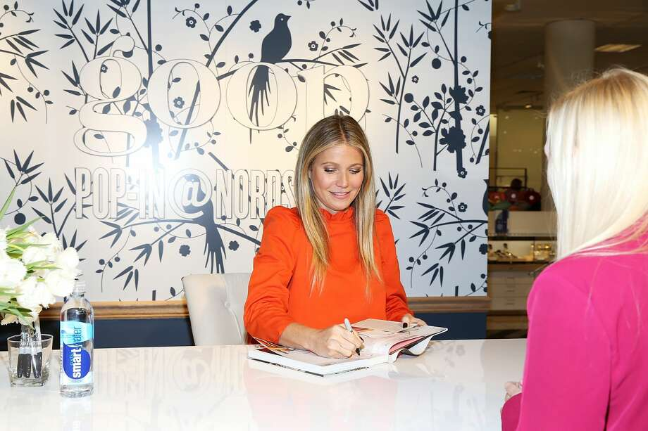 Gwyneth Paltrow attends book signing at goop-in@Nordstrom at The Grove on June 8, 2017 in Los Angeles, California. Goop has come under fire for a number of products the site sells, with a watchdog group criticizing various health claims in the site's product marketing. Photo: Phillip Faraone/Getty Images For Goop