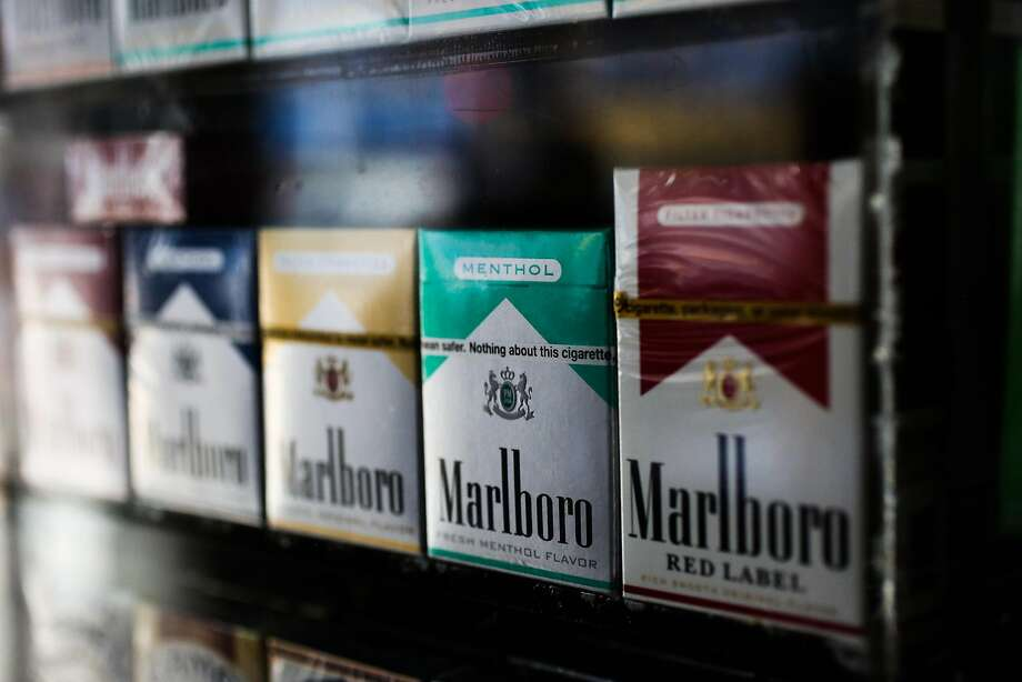Menthol cigarettes are seen on display for sale at That's It bodega in the Mission district in San Francisco, California, on Sunday, June 11, 2017. Photo: Gabrielle Lurie, The Chronicle