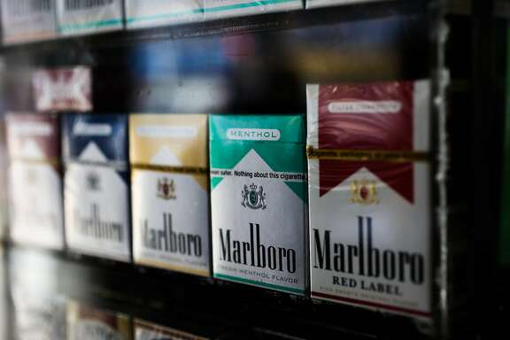 Menthol cigarettes are seen on display for sale at That's It bodega in the Mission district in San Francisco, California, on Sunday, June 11, 2017.