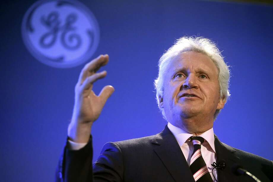 FILE - In this Monday, April 4, 2016, file photo, General Electric CEO Jeff Immelt speaks during a news conference in Boston, held to unveil more details about GE's move to the city, pledging to spend $50 million on a series of initiatives in Boston. General Electric announced Monday, June 12, 2017, that Immelt is stepping down after 16 years as CEO of the iconic conglomerate. Immelt took the helm in 2001 from legendary CEO Jack Welsh. John Flannery, president and CEO of the GE�s health care unit, will take over as CEO in August 2017. (AP Photo/Steven Senne, File) Photo: Steven Senne, Associated Press